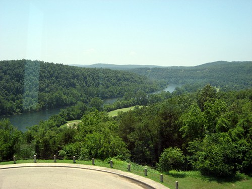 View from Bull Shoals Visitor Center of the White River
