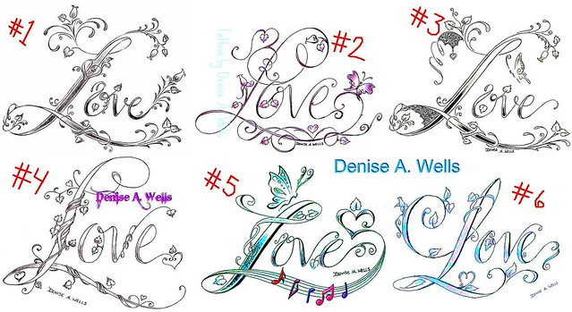 One Love Tattoo Designs