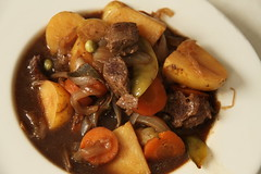 produce(0.0), coq au vin(0.0), meal(1.0), stew(1.0), curry(1.0), vegetable(1.0), beef bourguignon(1.0), food(1.0), pot roast(1.0), dish(1.0), cuisine(1.0),