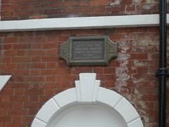 Photo of William Booth grey plaque
