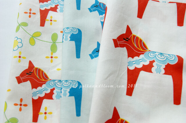 Dala horse fabric designs