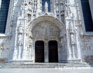 Image of Mosteiro de Santa Maria de Belém. santa portugal maria lisboa belem monastero lisbona portogallo belém mosteiro jerónimos