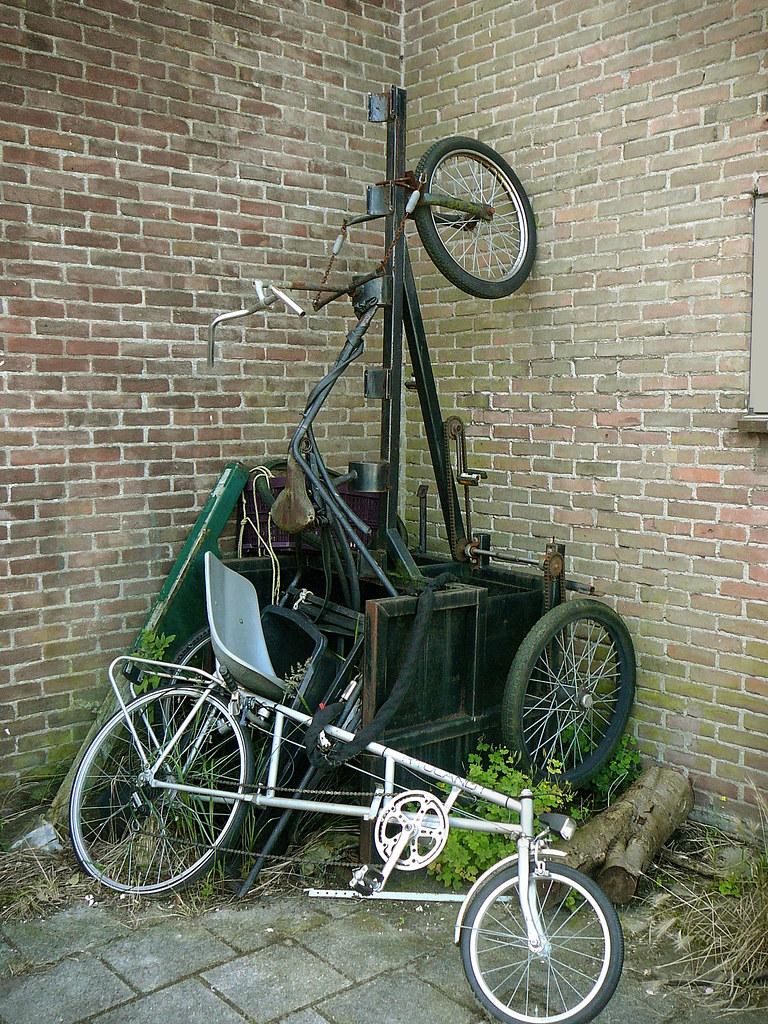 Ligfiets, driewieler (recumbent, threewheeler, vélo couché, tricycle), Amsterdam, Walraven van Hallstraat, 07-2011