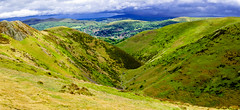 The Long Mynd and Little Stretton Panorama (1 of 1). By Thomas Tolkien