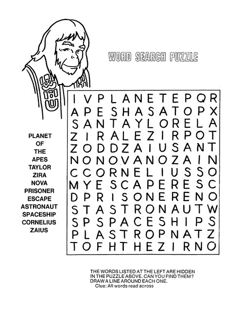 Planet of the Apes Activity Book 0100008