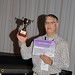 Fri, 2011-07-22 14:37 - Youth Science Canada Executive Director Reni Barlow with the 'Best Web Site Award' presented by MILSET at ESI 2011 in Bratislava, Slovakia.