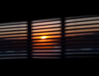 blind sunset