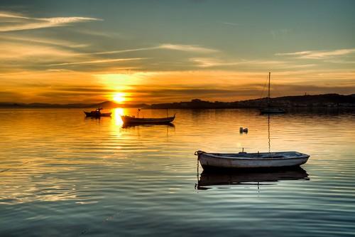 trip travel sunset sea vacation cloud holiday reflection turkey boat türkiye deniz sandal bulut günbatımı tatil yansıma turkei seyahat ayvalık colorphotoaward mygearandme