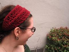 Lace rib headband