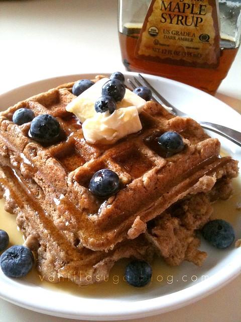 buckwheat-oat waffles