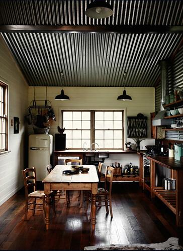 Sharyn Cairns {rustic vintage industrial modern kitchen}