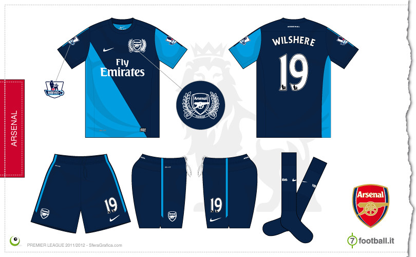 Arsenal away kit 2011 2012  928eb0bd3