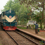 Train Crossing - Khulna to Rajshahi, Bangladesh