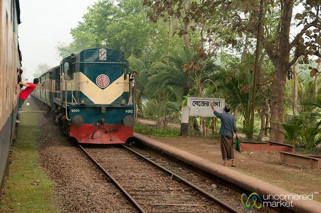 Train Crossing - Khulna to Rajshahi, Bangladesh