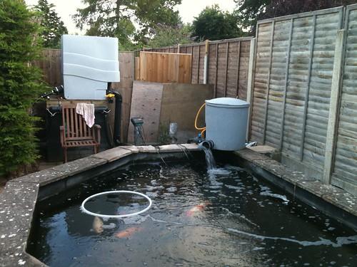 Home made filter polishing unit page 2 pond for Fish pond filtration setup
