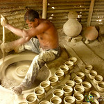Manual Pottery Wheel - Najirpur, Bangladesh