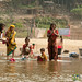 Women Bathing and Washing in Shangu River - Bandarban, Bangladesh