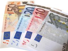Euros Isolated on White Background