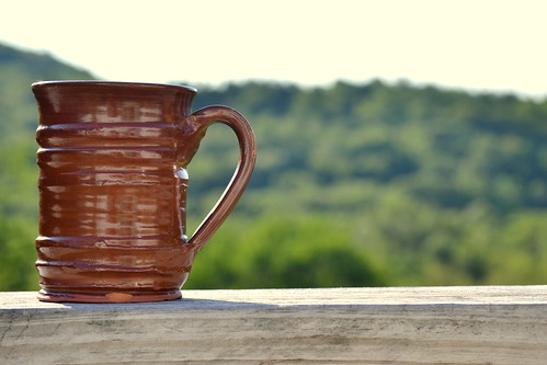 trees summer brown mountain home coffee beautiful view deck clay mug simple pleasure oldsturbridgevillage project365 apicaday creativeeveryday thedailyshoot ds606 2011197365