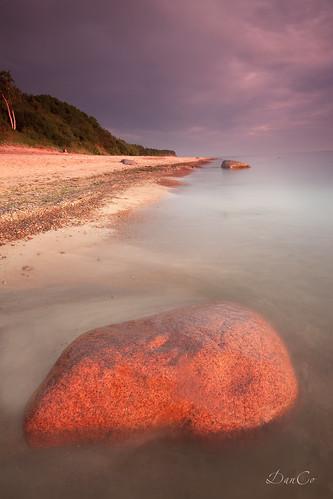 sunset sea stone coast twilight baltic lithuania lietuva sigma1020mmf456exdchsm karkle canoneos50d mygearandme koodgm1filter