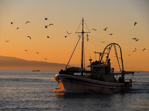 Embarcación en el Mar Egeo