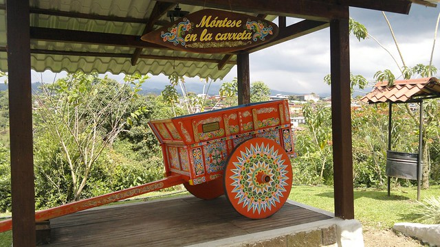 Oxcart at Espiritu Santo Coffee Plantation, Naranjo, Costa Rica