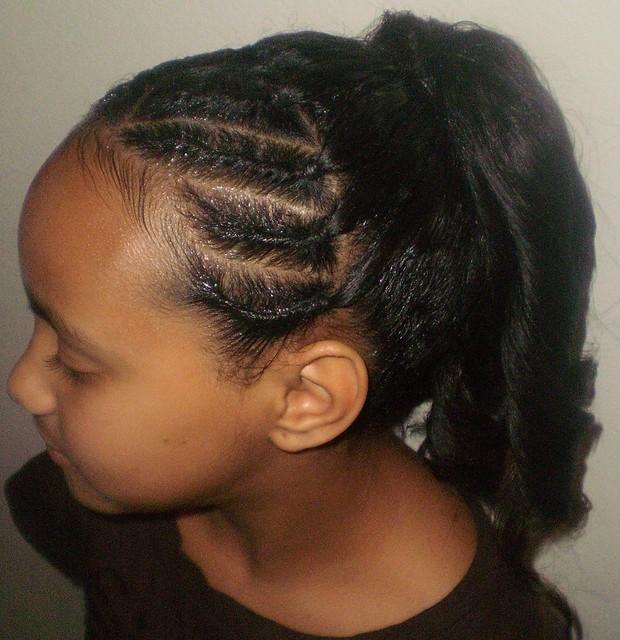 Flat Twist with Spiral Curls