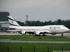 Boeing 747-412 (4X-ELH) El Al Israel Airlines Taxi