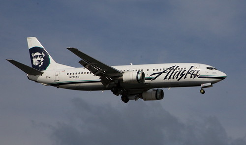 Alaska Air 737 approaching ANC