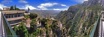 Benedictine Monk retreat at Montserrat Spain, near Barcelona by d.zanzinger