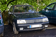 automobile, automotive exterior, peugeot, family car, vehicle, peugeot 309, bumper, peugeot 205, land vehicle,