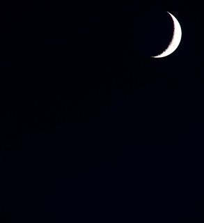 July 4th Crescent Moon