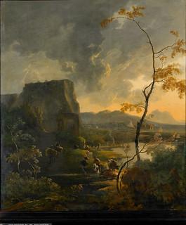 Adam Pijnacker - Rijksmuseum SK-A-323. Italiaans landschap met tempeltje/Italian landscape with ancient tempietto (c. 1649-c.1673)