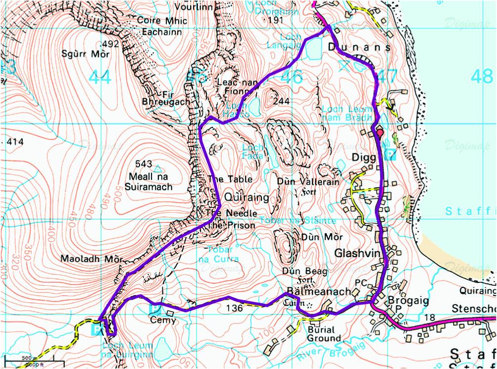 Quiraing, Skye mountain bike loop