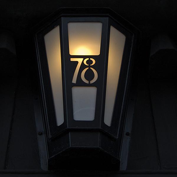 Front door light by charles rennie mackintosh 78 derngate for Dining room 78 derngate