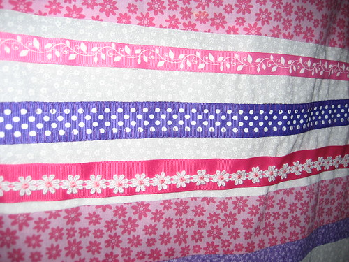 Ribbon Detail - Liliana's Baby Quilt