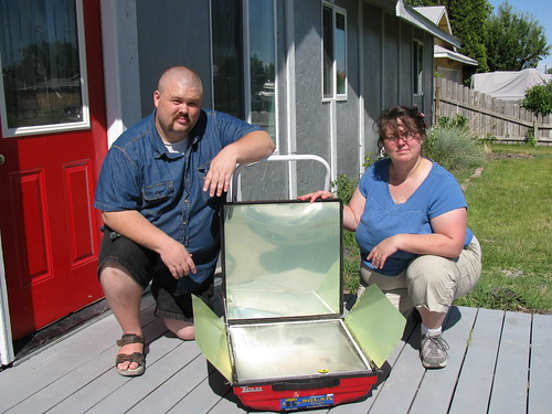 Tulsi solar-electric oven at the house