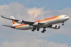 Iberia (Iberia Lineas Aereas de Espana) - Airbus A340-300 - EC-GJT - Rosa Chacel - John F. Kennedy International Airport (JFK) - July 15, 2011 1 111 RT CRP