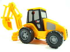 model car, yellow, vehicle, construction equipment, bulldozer, land vehicle, tractor, toy,