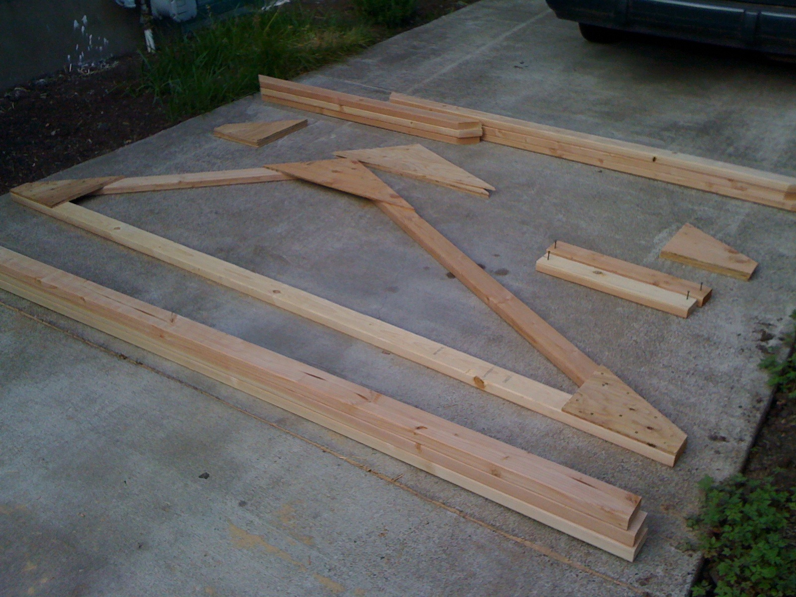 First Playhouse Roof Truss Complete Diy Flickr Photo