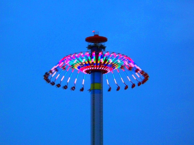 Cedar Point - WindSeeker at Night