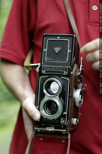 billy's rolleiflex twin lens reflex camera   he's shooting 120mm pan f film