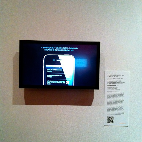 "Situationist app at ""Talk to Me"" exhibition at MoMA"