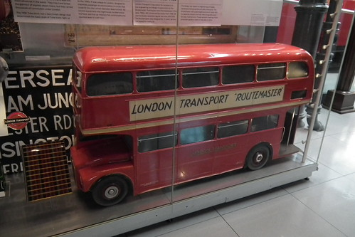 Scale model of 1958 AEC Routemaster double decker bus