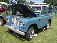 austin gipsy(0.0), off-roading(0.0), automobile(1.0), automotive exterior(1.0), sport utility vehicle(1.0), vehicle(1.0), off-road vehicle(1.0), land rover series(1.0), bumper(1.0), land vehicle(1.0),