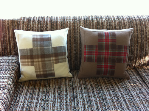 My woolen cross pillows!