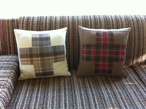 My woolen cross pillows!