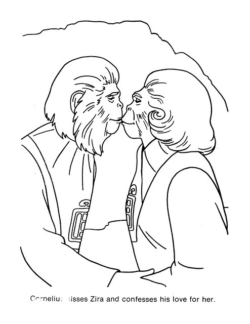 Planet of the Apes Coloring Book 0200061