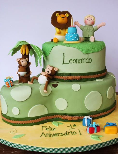 Safari Birthday Cake  Flickr - Photo Sharing!