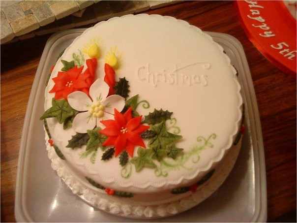 Cake Making Classes Northumberland : First Christmas cake Flickr - Photo Sharing!